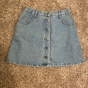 Vintage Denim Mini Skirt from L.A. Blues